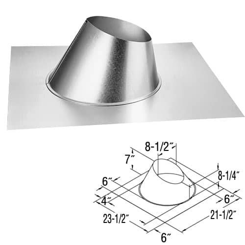 "DuraVent 46DVA-F6 Galvanized 4"" Inner Diameter Directvent Pro Direct Vent Pipe"