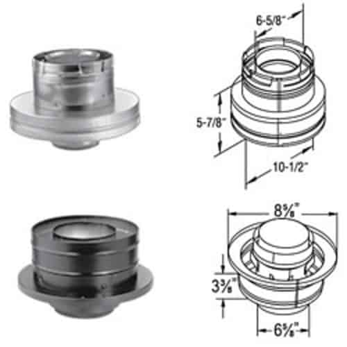 "DuraVent 46DVA-KCB Galvanized 4"" X 6-5/8"" Inner Diameter"