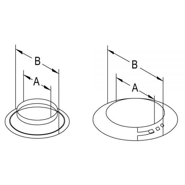 "DuraVent 46DVA-SC Galvanized 4"" Inner Diameter Directvent Pro Direct Vent Pipe 1"