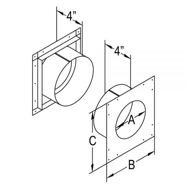 "DuraVent 46DVA-WT Galvanized 4"" Inner Diameter 2"