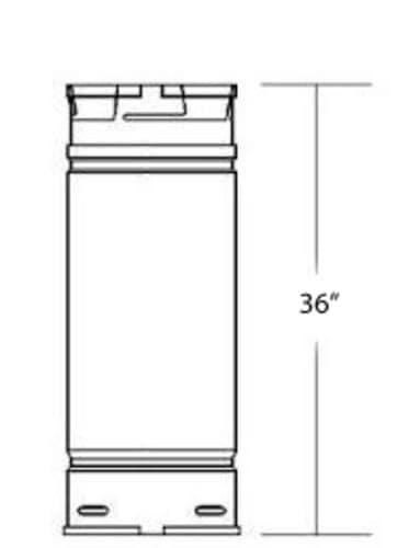 """DuraVent 4PVP-36 Stainless Steel 4"""" Inner Diameter 2"""