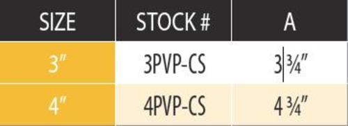 "DuraVent 4PVP-CS Black 4"" Inner Diameter 2"