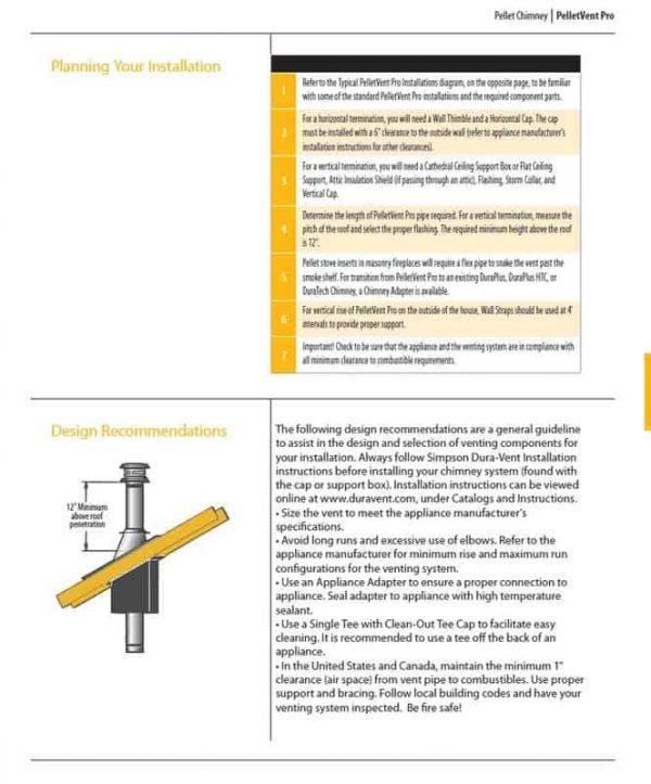 """DuraVent 4PVP-E45 Stainless Steel 4"""" Inner Diameter 1"""