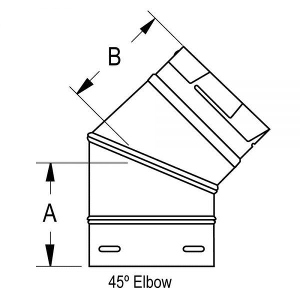"""DuraVent 4PVP-E45 Stainless Steel 4"""" Inner Diameter 4"""