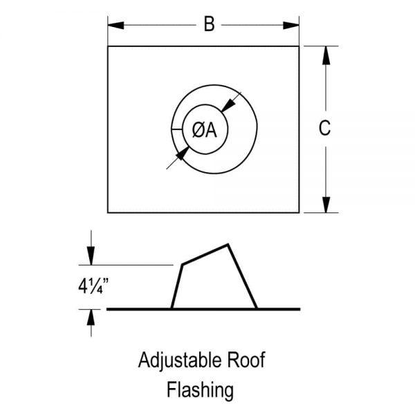 """DuraVent 4PVP-F6 Stainless Steel 4"""" Inner Diameter 1"""