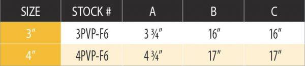 """DuraVent 4PVP-F6 Stainless Steel 4"""" Inner Diameter 3"""