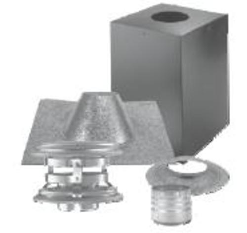 """DuraVent 4PVP-KVB Black and Stainless Steel 4"""" Inner Diameter"""