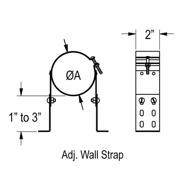 "DuraVent 4PVP-WSA Stainless Steel 4"" Inner Diameter 1"