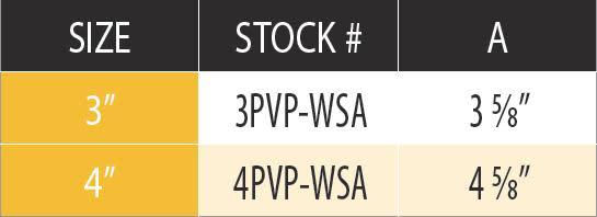 "DuraVent 4PVP-WSA Stainless Steel 4"" Inner Diameter 2"