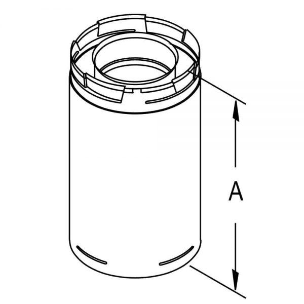 "DuraVent 58DVA-24 Galvanized 5"" Inner Diameter 2"