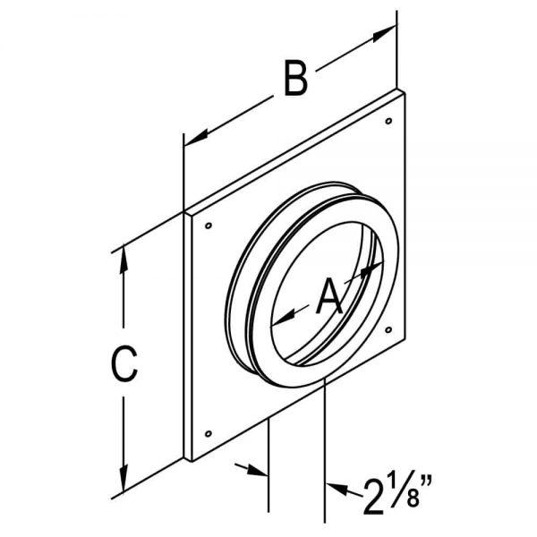 """DuraVent 58DVA-DC Black 5"""" X 8"""" Inner Diameter 1"""