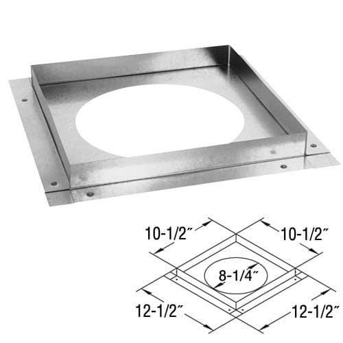 "DuraVent 58DVA-FS Galvanized 5"" X 8"" Directvent Pro Galvanized Ceiling Firestop"