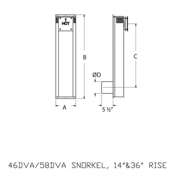"DuraVent 58DVA-SNK36 Galvanized 5"" X 8"" Inner Diameter 1"