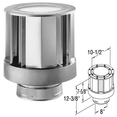 Duravent 58dva Vch Galvanized 5 Inner Diameter Directvent Pro Direct Vent Pipe Fireplacess Com