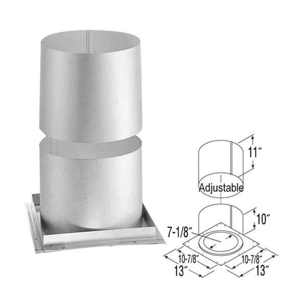 """DuraVent 5DT-FRS Galvanized 5"""" Inner Diameter 1"""