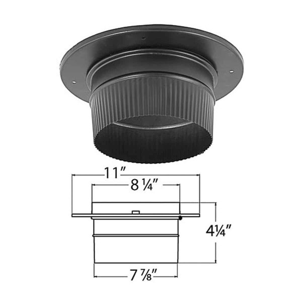 DuraVent 6891 8 Snap-Lock Adapter with Trim 1
