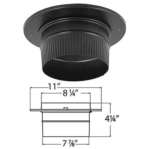 DuraVent 6891 8 Snap-Lock Adapter with Trim