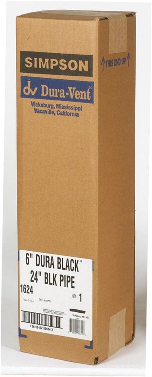 """DuraVent 6DBK-24 Black 6"""" Inner Diameter 1"""