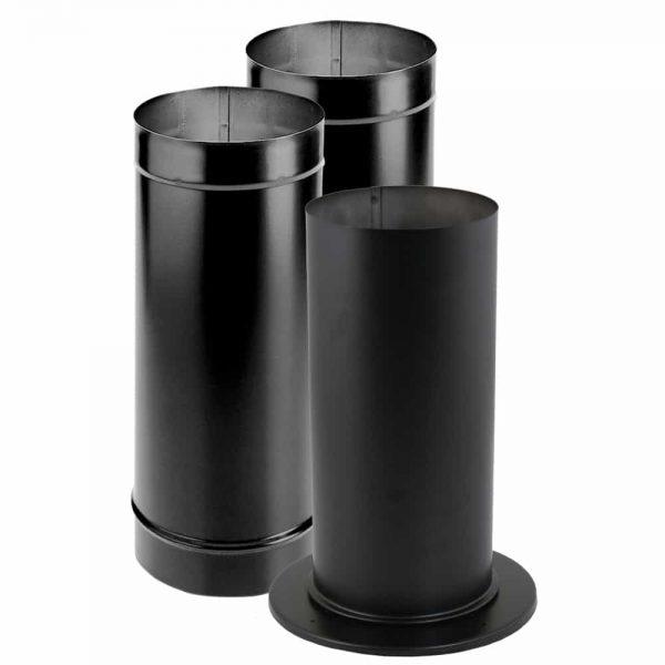 "DuraVent 6DBK-KSP 6"" Inner Diameter - DuraBlack Stove Pipe - Single Wall - Kit I"
