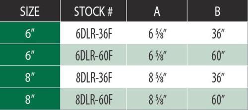 "DuraVent 6DLR-60F Aluminized Steel 6"" Inner Diameter 4"