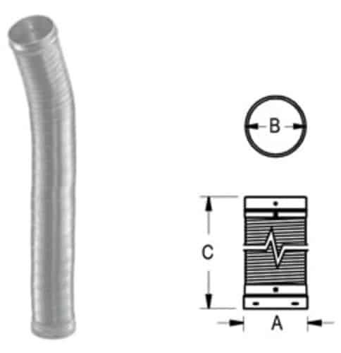 "DuraVent 6DLR-60F Aluminized Steel 6"" Inner Diameter"