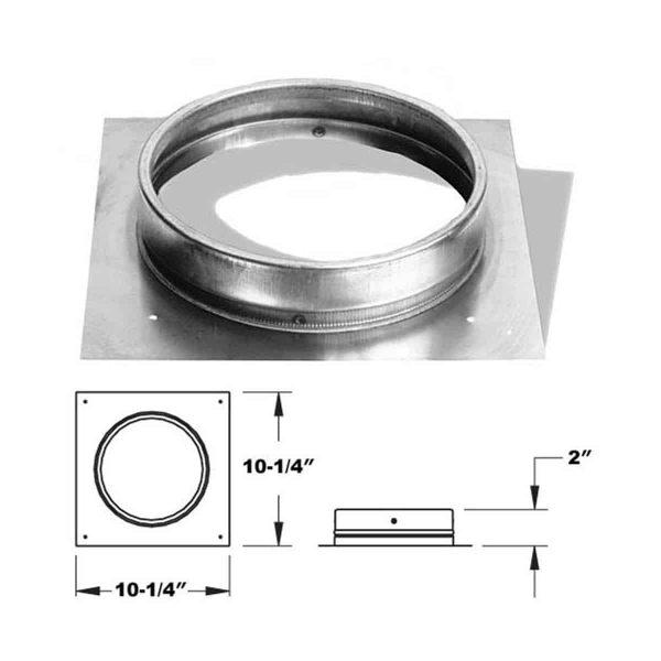 """DuraVent 6DLR-FCNR Aluminized Steel 6"""" Inner Diameter 1"""