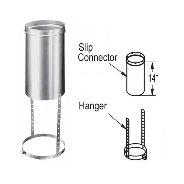 """DuraVent 6DLR-SCH Aluminized Steel 6"""" Chimney Relining Slip Connector And Hanger From The 1"""