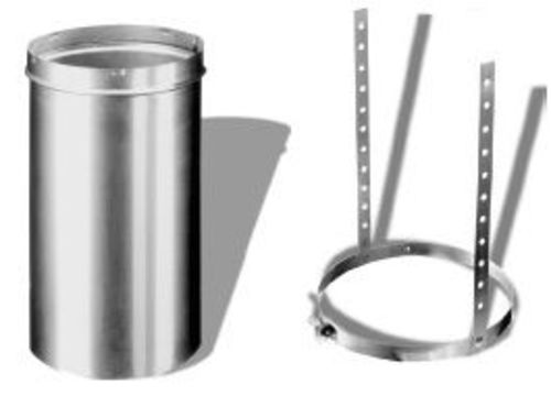 """DuraVent 6DLR-SCH Aluminized Steel 6"""" Chimney Relining Slip Connector And Hanger From The"""