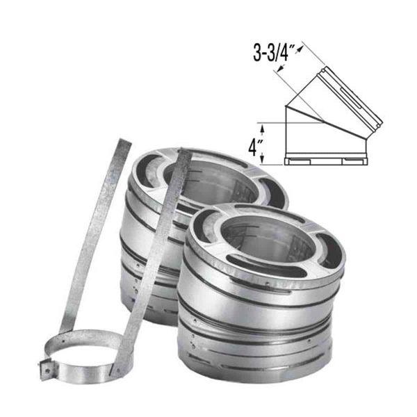"""DuraVent 6DP-E15 Galvanized 6"""" Inner Diameter 1"""