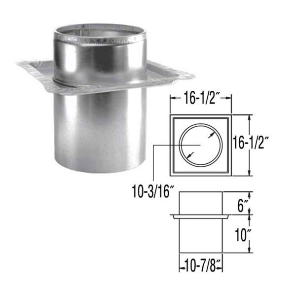 "DuraVent 6DP-FRS Galvanized 6"" Inner Diameter 1"