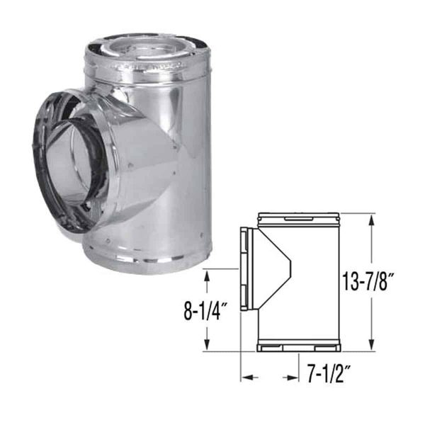 """DuraVent 6DP-TSS Stainless Steel 6"""" Inner Diameter 1"""