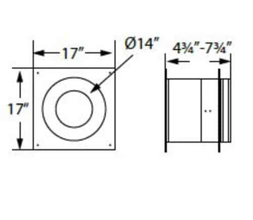 "DuraVent 6DP-WT Black 6"" Inner Diameter 1"