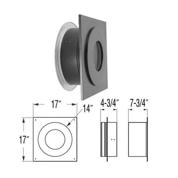 "DuraVent 6DP-WTSS Stainless Steel 6"" Inner Diameter 1"