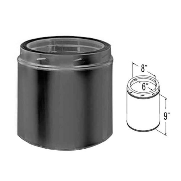 "DuraVent 6DT-09B Black 6"" Inner Diameter 1"