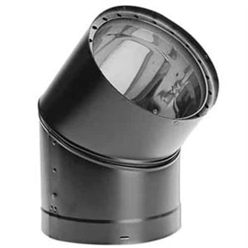 """DuraVent 6DVL-E45 Black 6"""" Inner Diameter 1"""
