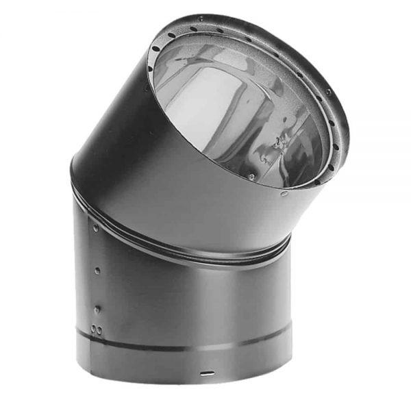 """DuraVent 6DVL-E45 Black 6"""" Inner Diameter"""