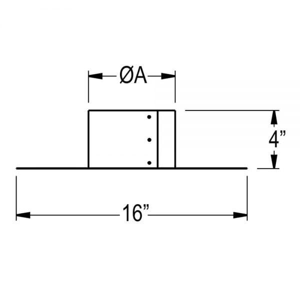 "DuraVent 7DFA-TP Aluminum 7"" Duraflex Al Top Plate From The Duraflex Al Series 1"