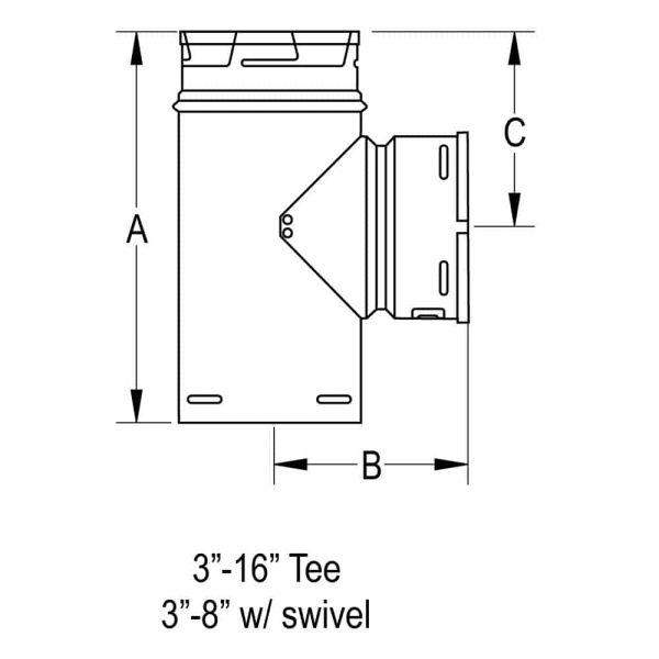 """DuraVent 7GVT Aluminum 7"""" Inner Diameter 1"""