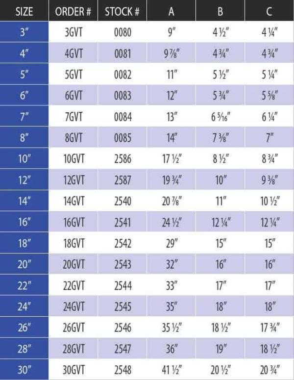 """DuraVent 7GVT Aluminum 7"""" Inner Diameter 2"""