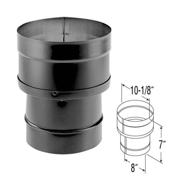 "DuraVent 8DBK-X10 Black 8"" To 10"" Inner Diameter 1"