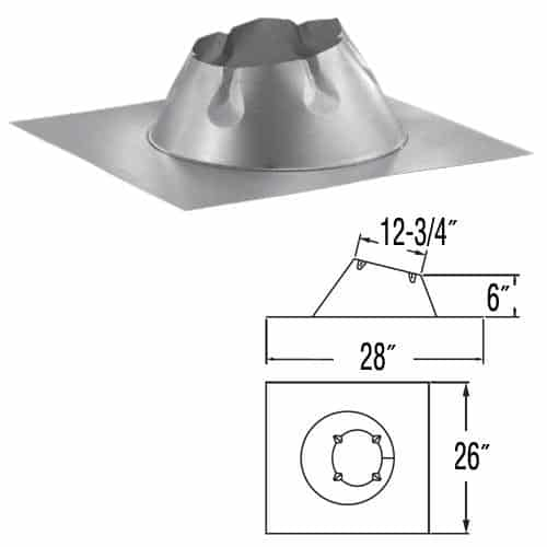 """DuraVent 8DP-F6 Galvanized 8"""" Inner Diameter 1"""