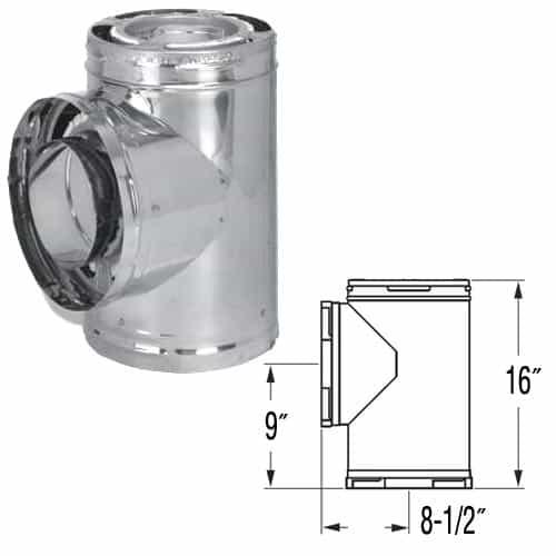 """DuraVent 8DP-TSS Stainless Steel 8"""" Inner Diameter 1"""