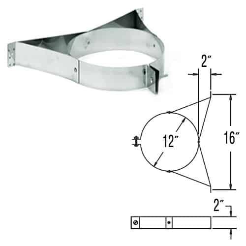 """DuraVent 8DP-WSSS Stainless Steel 8"""" Inner Diameter 1"""