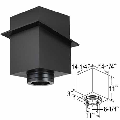 """DuraVent 8DT-CS11 Black 8"""" Inner Diameter 1"""