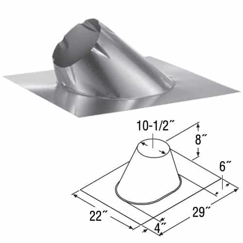 """DuraVent 8DT-F6 Galvalume 8"""" Duratech Class A Chimney Pipe 1"""