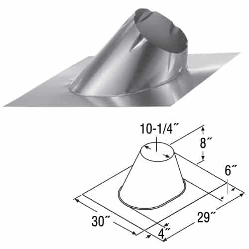 """DuraVent 8DT-F6DSA Stainless Steel 8"""" Duratech Class A Chimney Pipe 1"""