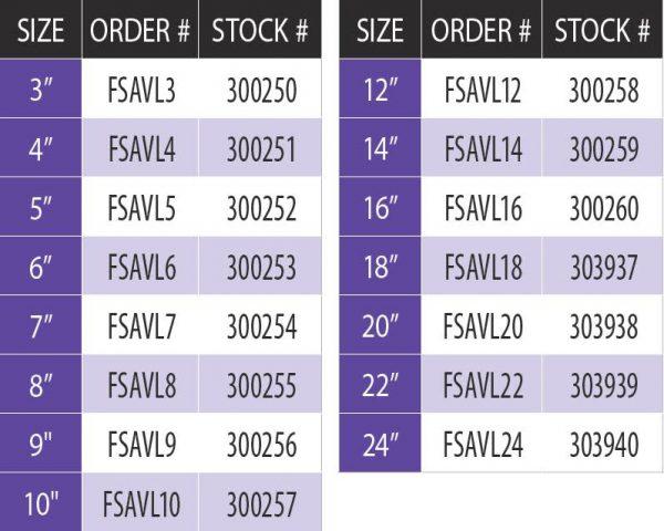 """DuraVent FSAVL7 Stainless Steel 7"""" Inner Diameter 1"""
