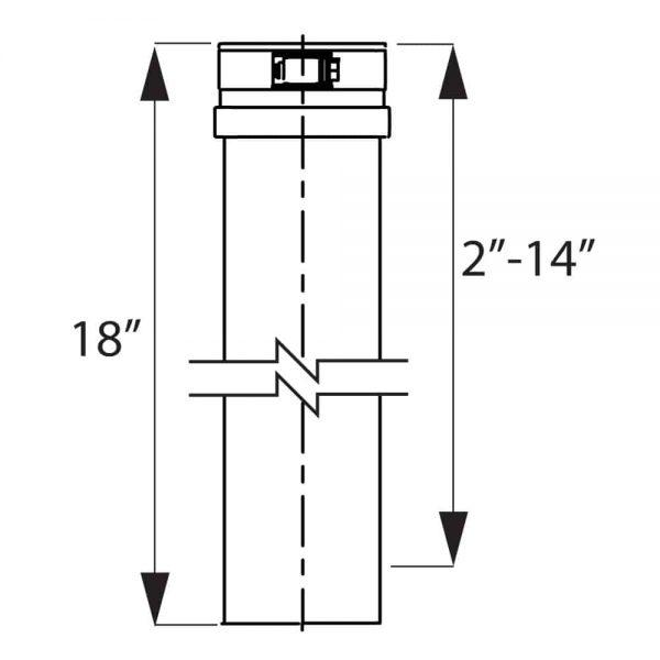 """DuraVent FSAVL7 Stainless Steel 7"""" Inner Diameter 2"""