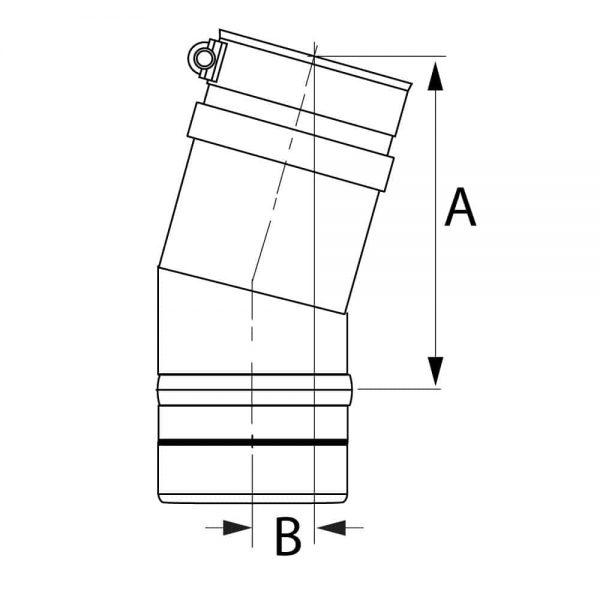"""DuraVent FSELB1504 Stainless Steel 4"""" Inner Diameter 1"""