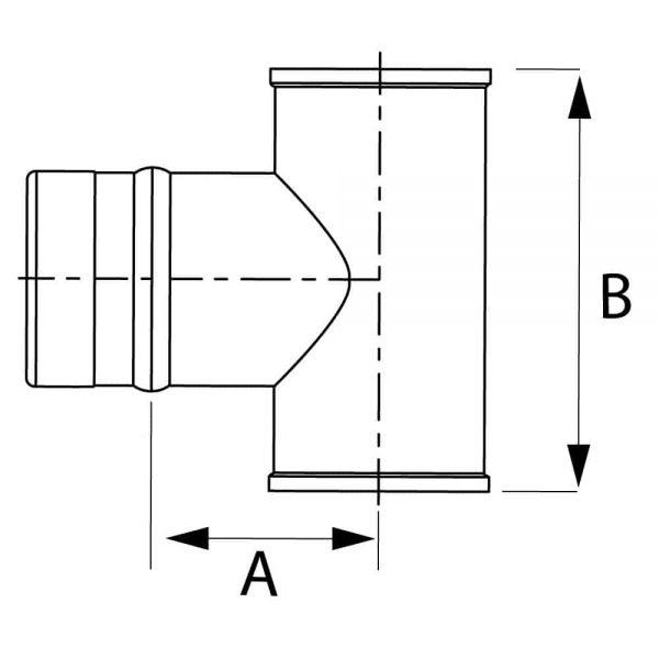 """DuraVent FSTT4 Stainless Steel 4"""" Inner Diameter 1"""